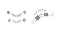 REHAU Отвод направляющий Rehau с кольцами 45°, для фиксации поворота трубы 20