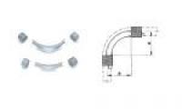 REHAU Отвод направляющий Rehau с кольцами 90°, для фиксации поворота трубы 25