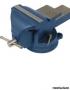 Тиски слесарные поворотные синие Miol 150мм